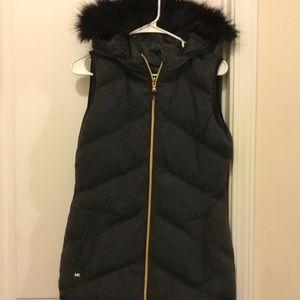 MK reversible puffer vest